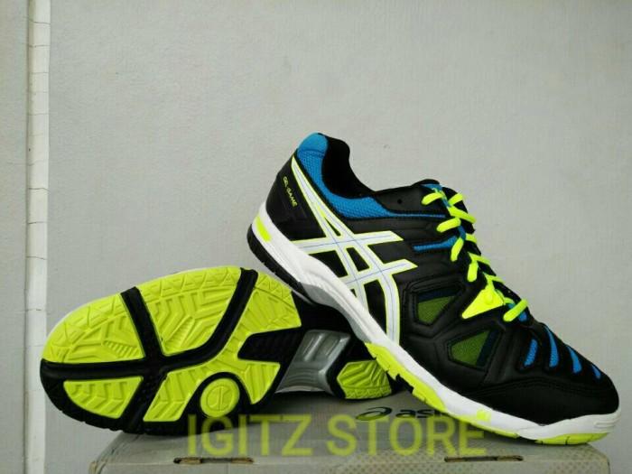 Jual  Original  Sepatu Badminton   Volley ASICS GEL-GAME Black Blue ... b3ac850151
