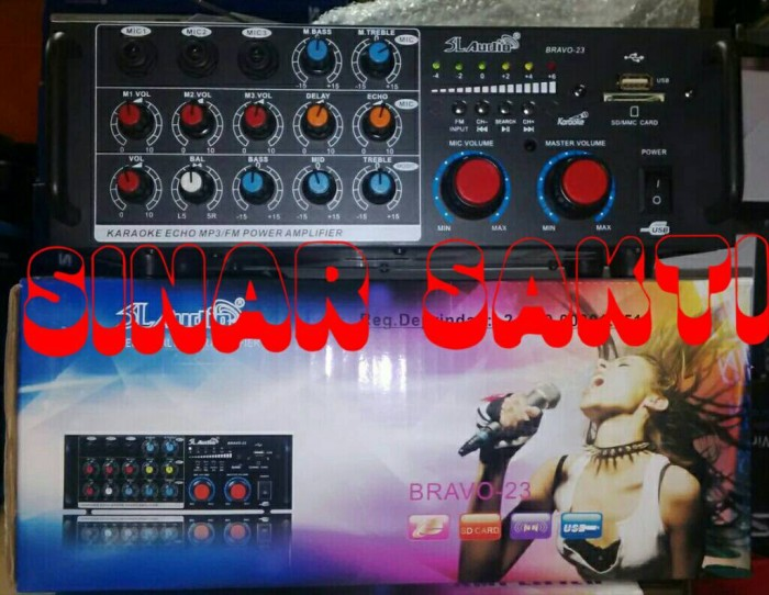 harga Murah amplifier karaoke mixer slaudio bravo 23 ( usbsdradio fm ) Tokopedia.com