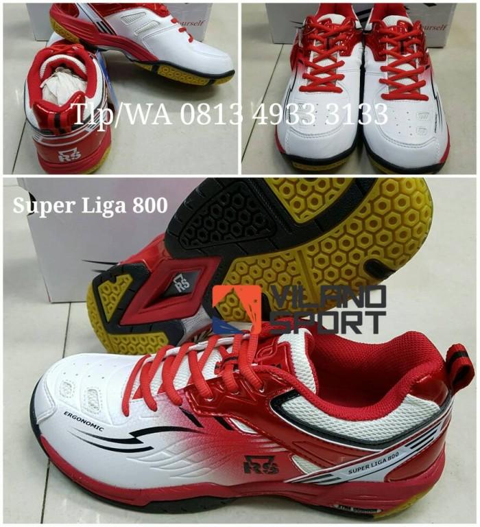 harga New..!! sepatu badminton rs super liga 800 putih/merah. Tokopedia.com