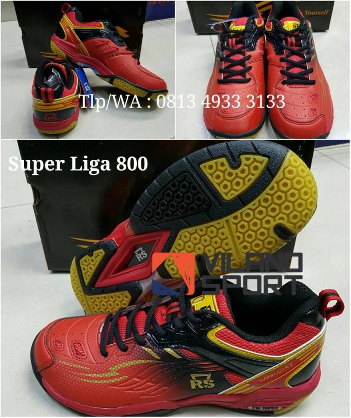 harga Sepatu badminton rs super liga 800 merah/hitam Tokopedia.com