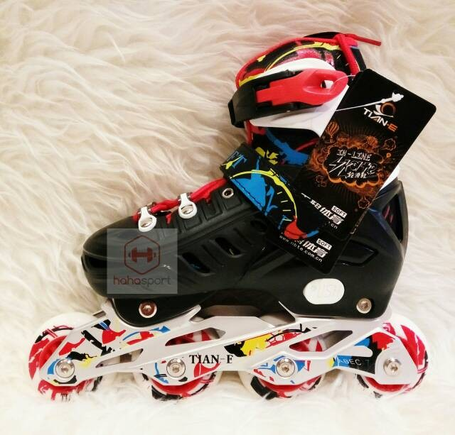 harga Sepatu roda anak inline skate tian-e 786 red Tokopedia.com