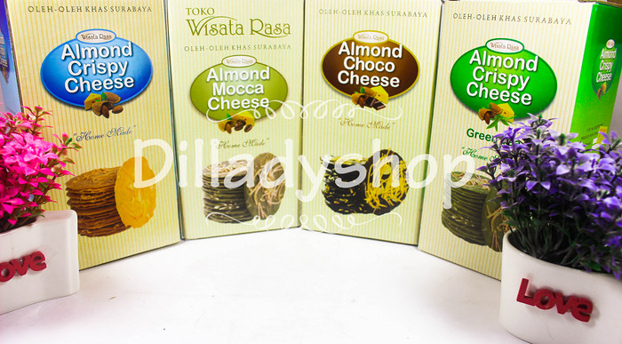 harga Paket 4 rasa almond crispy cheese Tokopedia.com