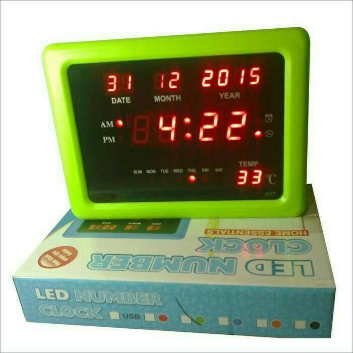 Foto Produk jam digital meja &dinding /jam digital LED menyala terang dari Ammar Colletion