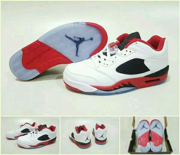 harga Sepatu basket air jordan 5 low fire red Tokopedia.com