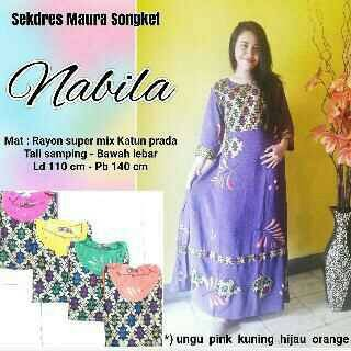 longdress songket nabila batik pekalongan | dress | gamis gaun daster