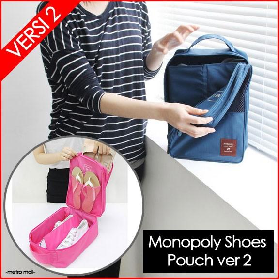 new shoes organizer monopoly pouch ver2 tas sandal sepatu traveling