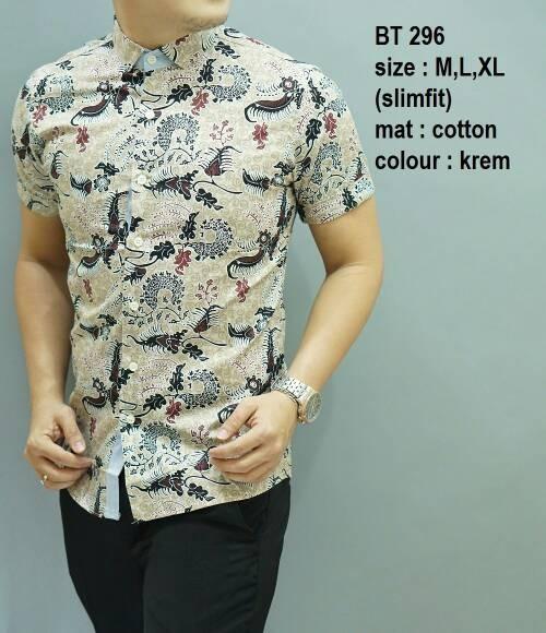 Foto Produk Baju Batik Pria Slim Fit Modern Keren Mewah BT296 dari Lina Batik Distro