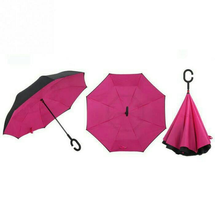 Payung Terbalik Gagang C/Inverted Umbrella/Payung Mobil Kazbrella