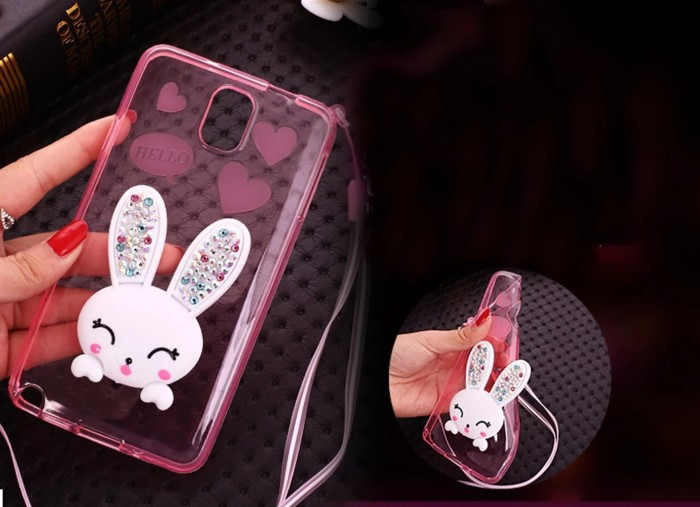 harga Rabbit diamond samsung galaxy note 3 4 5 thin silicone soft case tpu Tokopedia.com