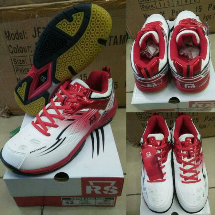 harga Sepatu badminton/bulutangkis rs super liga 800 putih/merah - original Tokopedia.com