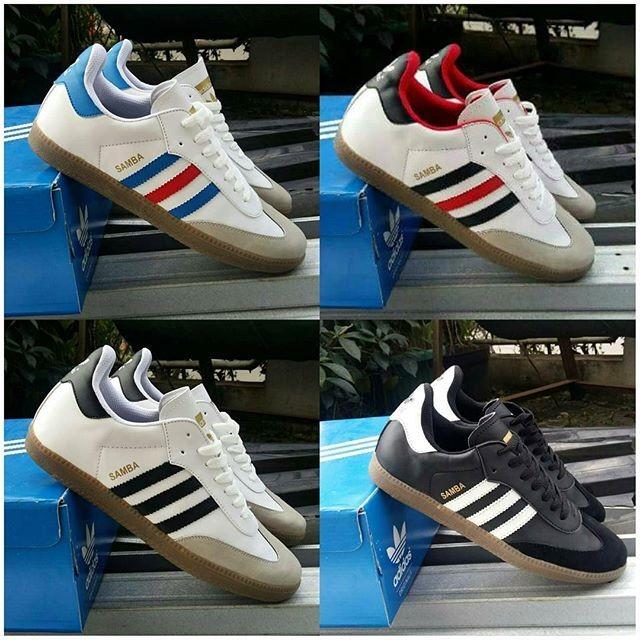 harga Sepatu adidas samba cowok cowo men man pria neo casual putih hitam new Tokopedia.com