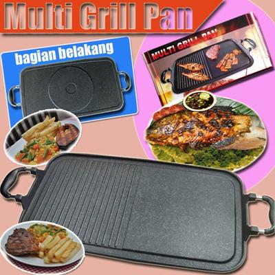 Alat masak panggang tanpa arang anti lengket multi grill pan big size