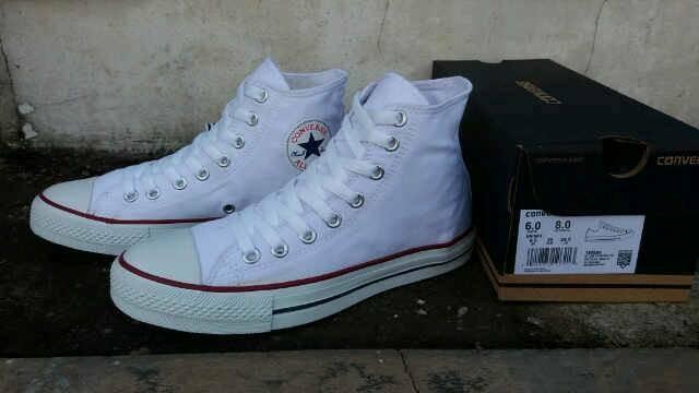 Jual Sepatu Couple Converse Chuck Taylor High Full White
