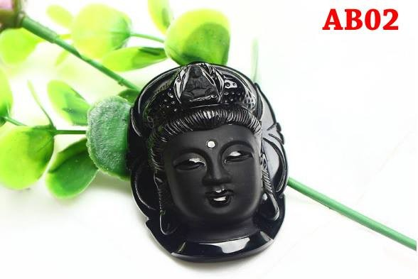 harga Liontin kalung natural black obsidian stone - model kepala dewi kwan i Tokopedia.com