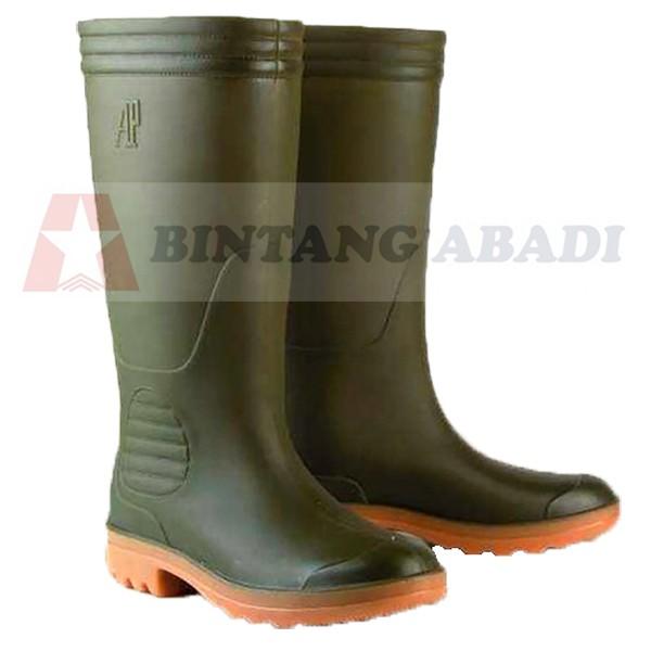 Jual Ap Boots 9506 Sepatu Boot Kerja Karet Hijau Tua Tinggi