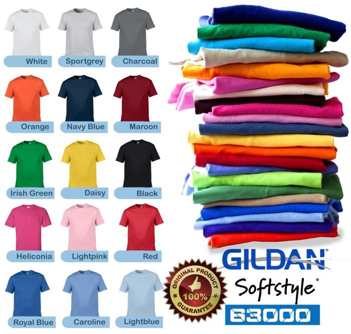 Foto Produk Kaos Gildan Softstyle Polos Tanpa Jahitan Samping Hitam Combed 30s dari TruckerHat