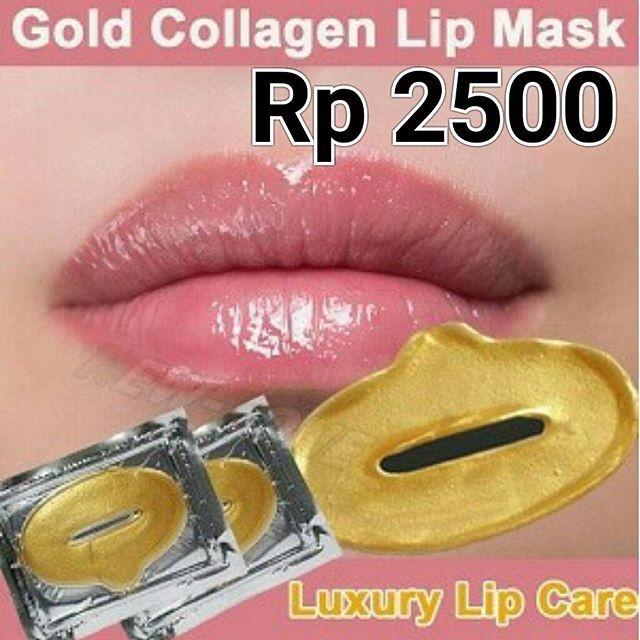Collagen Lip Mask Masker Bibir 10 Pcs Eyeliner Gel Black Free Source Kitchen Washing Tool. Source · masker bibir