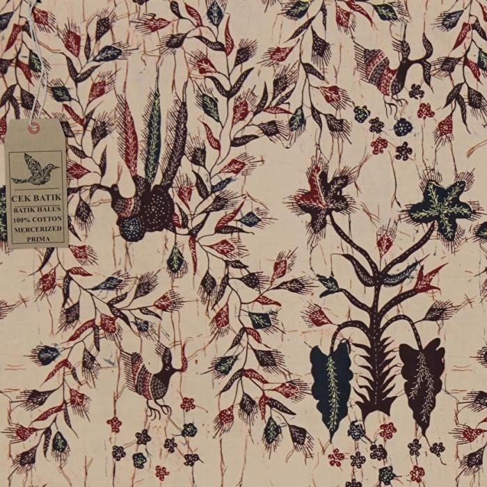 harga Kain batik motif unik burung sangkar bunga madura (cream Tokopedia.com