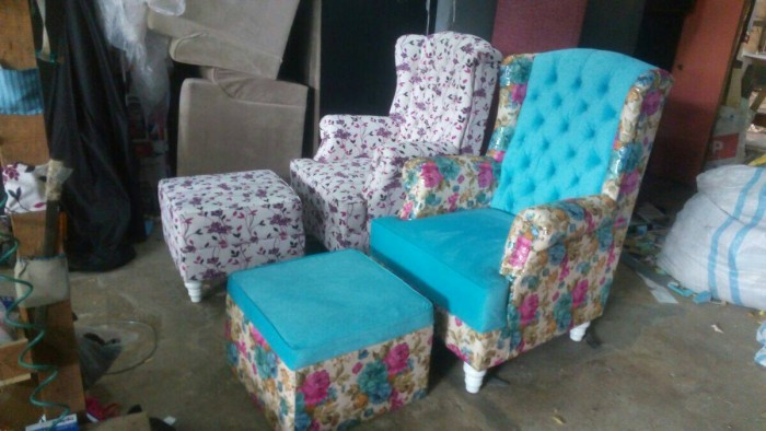harga Sofa wing chair + puff. Tokopedia.com