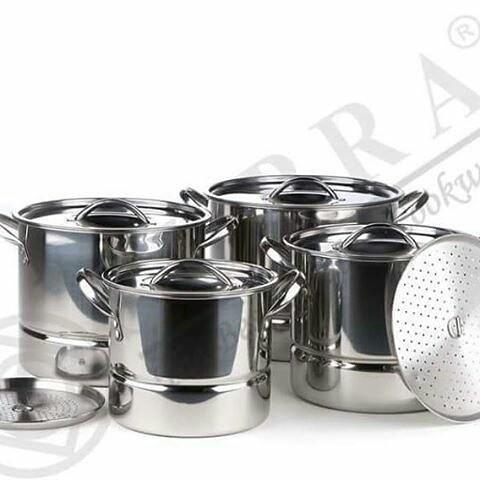 harga Steamer pot stainless supra stainless steel set 4pcs / panci kukus Tokopedia.com