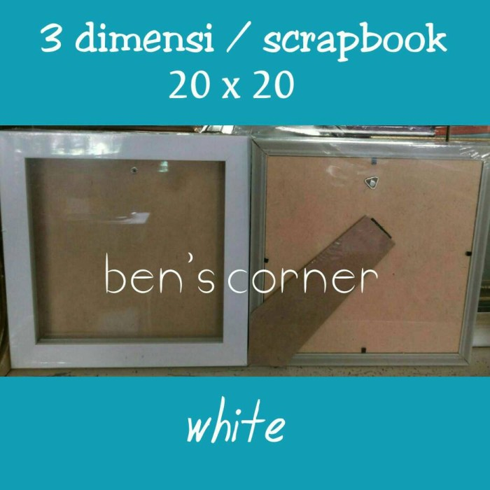 harga Frame foto/bingkai foto 3 dimensi / scrapbook uk.20x20 - white Tokopedia.com
