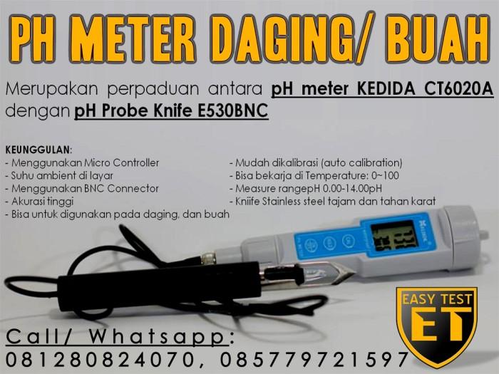 Foto Produk pH Meter Digital untuk Daging atau Buah Super MURAH Abis dari easytest