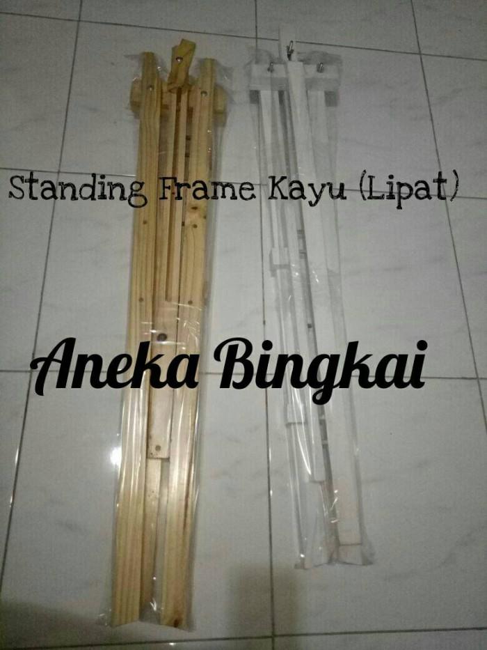 harga Standing frame kayu murah, bisa dilipat Tokopedia.com