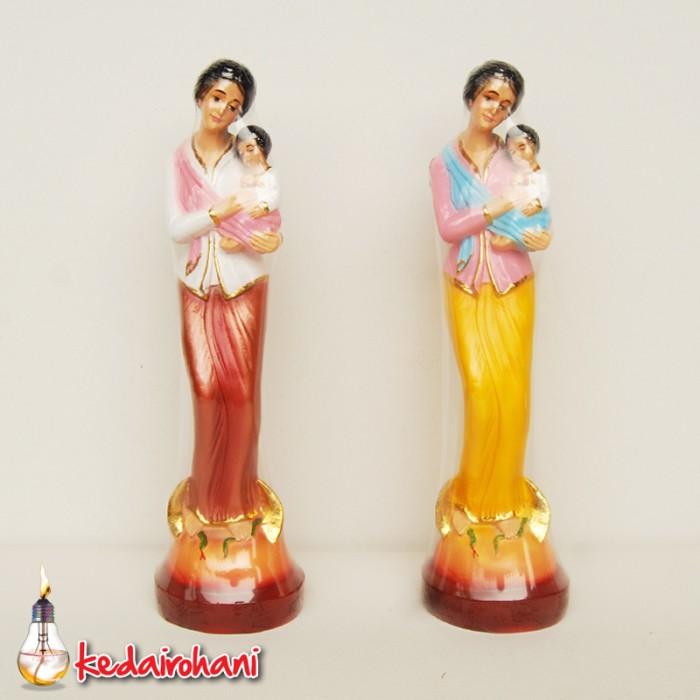 OHOME Pajangan 3D Vintage Keramik Poly Stone Girl Knitting Patung Hadiah Kado Decor - EV-. Source ... Maria dan Bayi Yesus. Source · harga Patung bunda ...