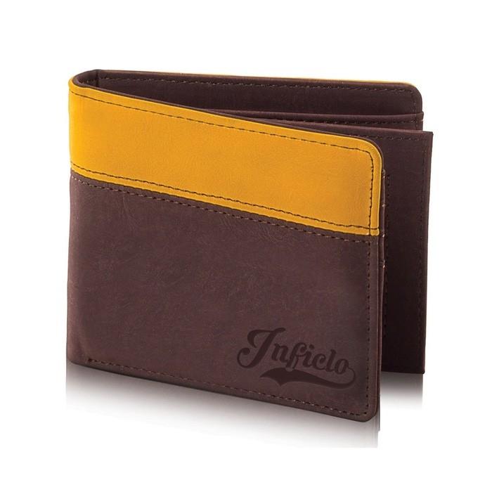Dompet Pria INFICLO SMT 701 Coklat Kuning Size 11x9x2