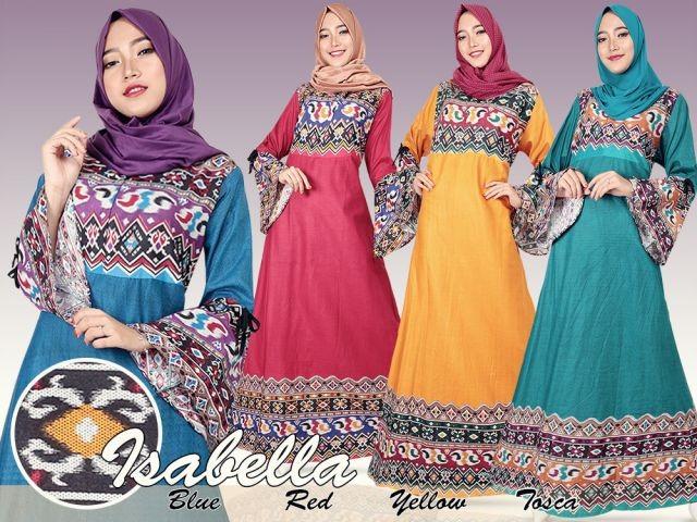 Jual Baju Gamis Gamis Etnik Isabel Ce17117 Putri Muslimah Store