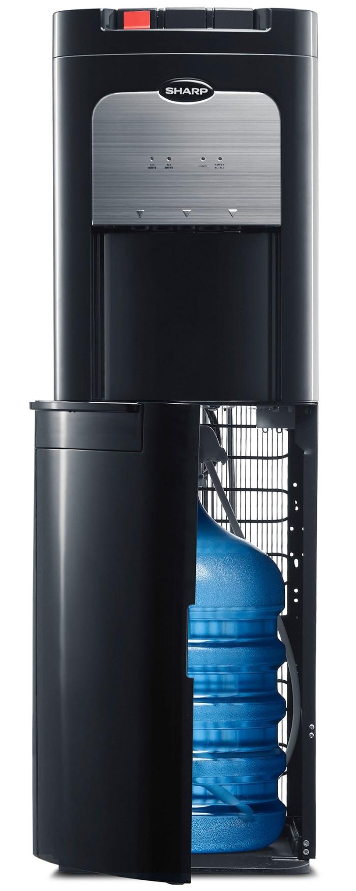 Sharp Swd 72ehl Bk Dispenser Galon Bawah Hitam Khusus Jadetabek T102ed Wh Putih Top Loading Water Bottom Free Jabodetabek