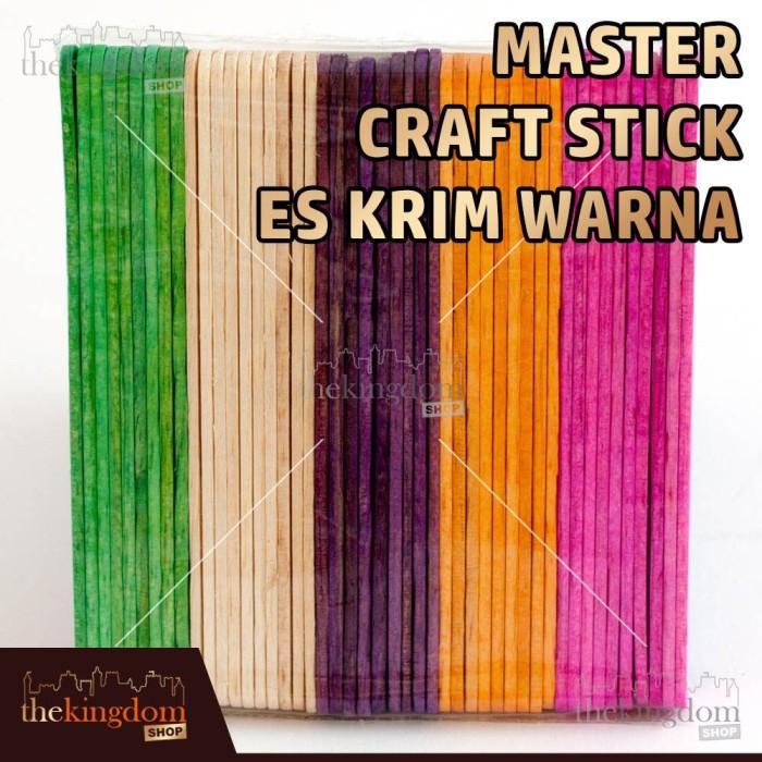 Master Craft Stick Es Krim Warna / Stik Kayu