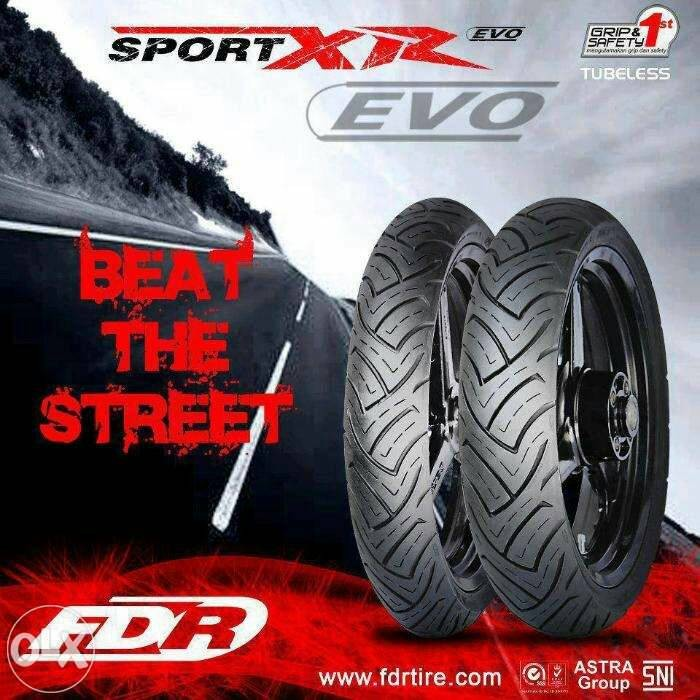 Ban Motor FDR Matic Ukuran 90 80 Ring 14 Sport Xr Evo