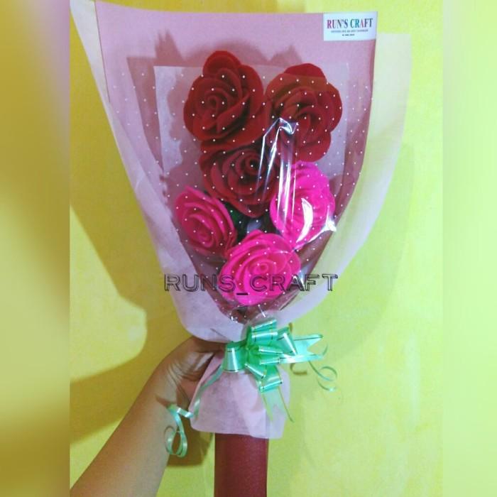 Jual Buket Bunga Mawar Small Flanel Kab Tangerang Run S Craft Tokopedia