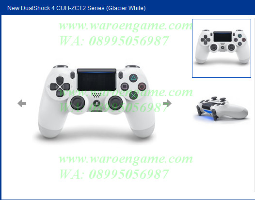 Ps4 stick/controller new dual shock 4 cuh-zct2 series (ds4 white)