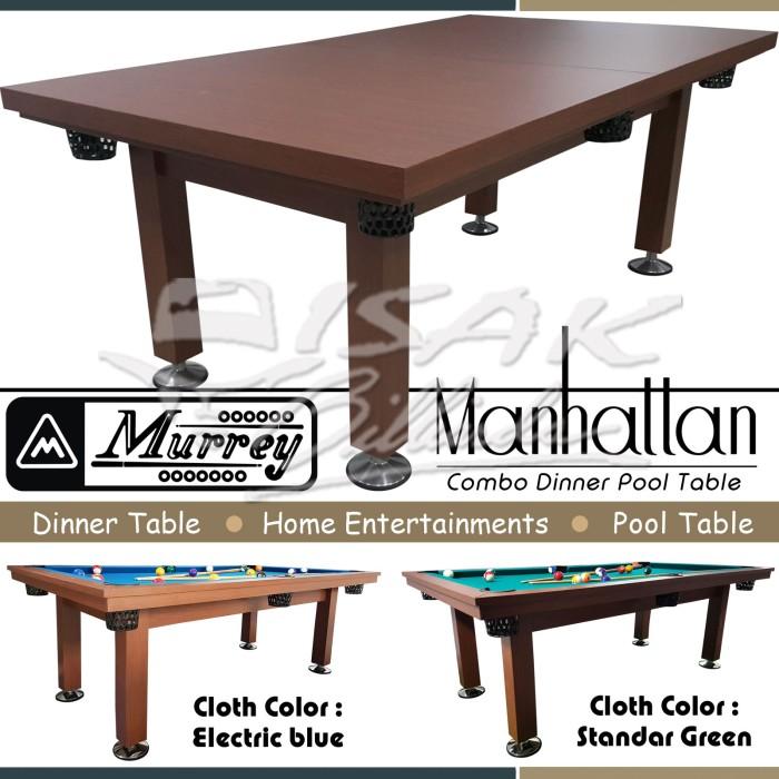 harga Murrey dinner pool table 7 ft manhattan - meja billiard biliar bilyard Tokopedia.com