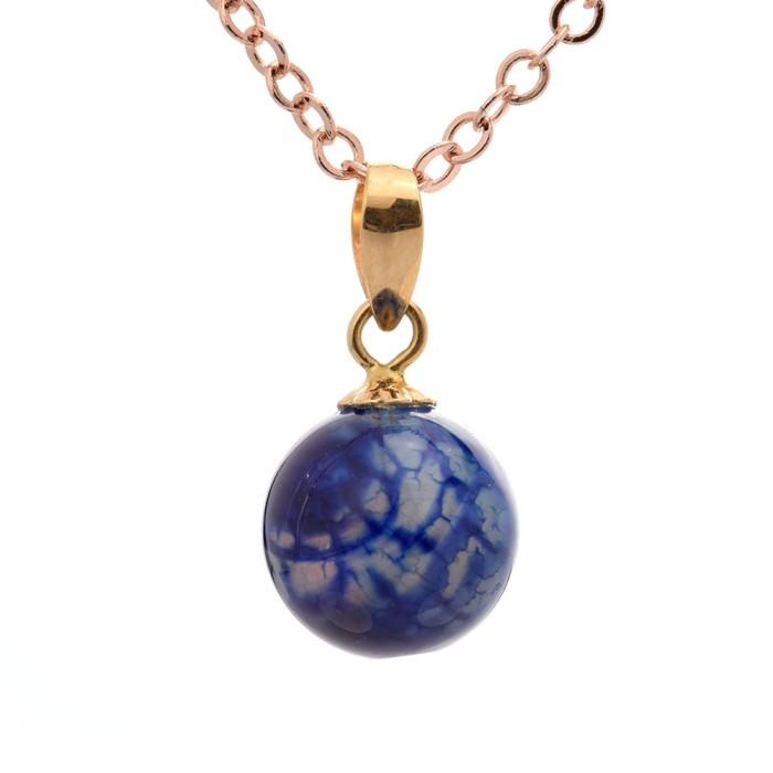 tiaria natural stone pendant liontin emas dan batu akik