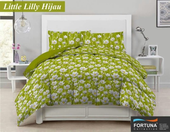 harga Sprei katun motif little lily hijau, uk 160x200 seprai fortuna, fd4 Tokopedia.com