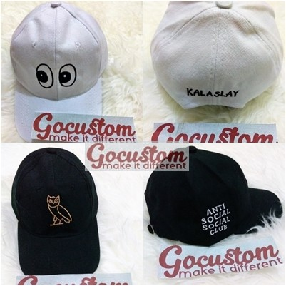 Jual Topi Baseball Custom   Topi Tumblr Custom Bordir 2 SISI satuan ... e187dc9ff2