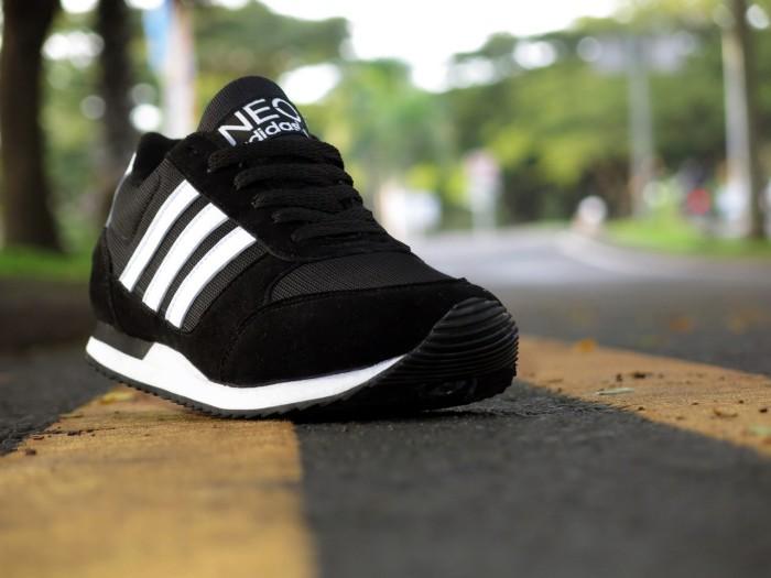 Jual Sepatu Adidas Sport olahraga Neo City Racer Kets Casual Hitam ... fde2b8d8ad