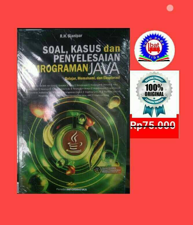 harga Buku soal kasus dan penyelesain pemrograman java +cd Tokopedia.com