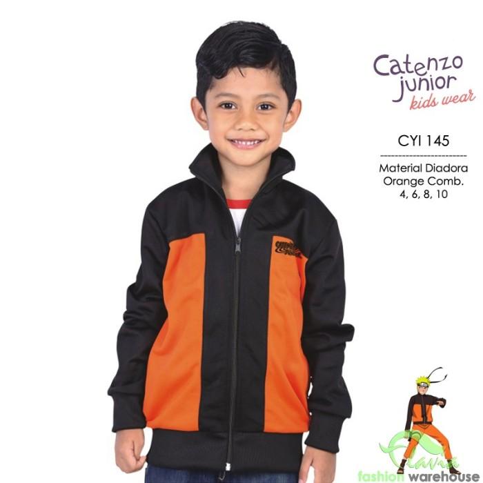 harga Jaket Sporty Atletis Diadora Anak Laki-laki Cyi 145 Hitam Mix Orange Tokopedia.com