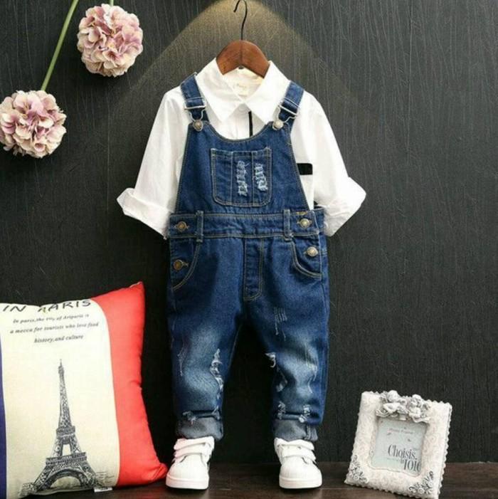 harga Overall jeans kids / celana monyet anak Tokopedia.com