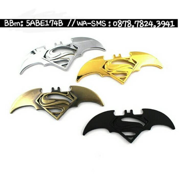 harga Emblem metal batman superman stiker 3d u/ aksesoris mobil dan motor
