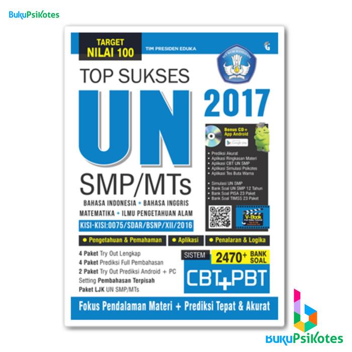 BUKU UN SMP - TOP SUKSES UN SMP / MTS 2017 + CD
