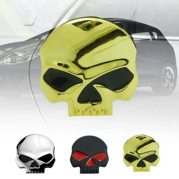 harga Import emblem skull besar tengkorak metal aksesoris mobil motor laptop Tokopedia.com