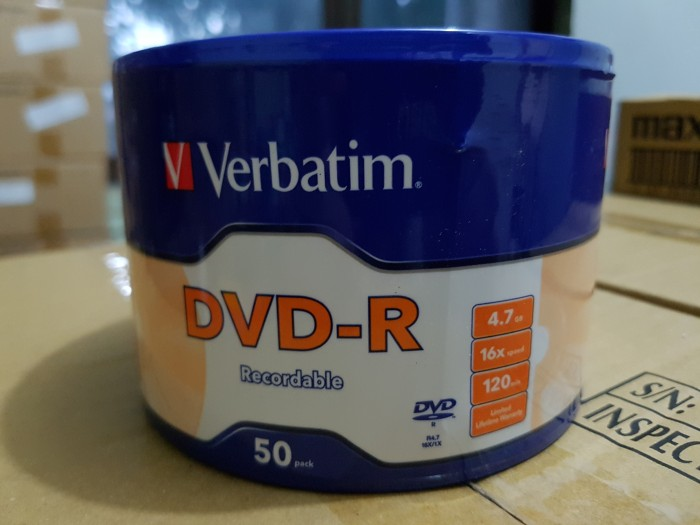 harga Dvd-r verbatim bulk (isi 50 pcs) Tokopedia.com