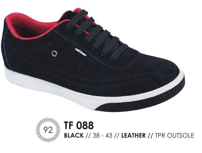 harga Sepatu sneaker / kets / casual pria kulit hitam catenzo - tf 088 Tokopedia.com