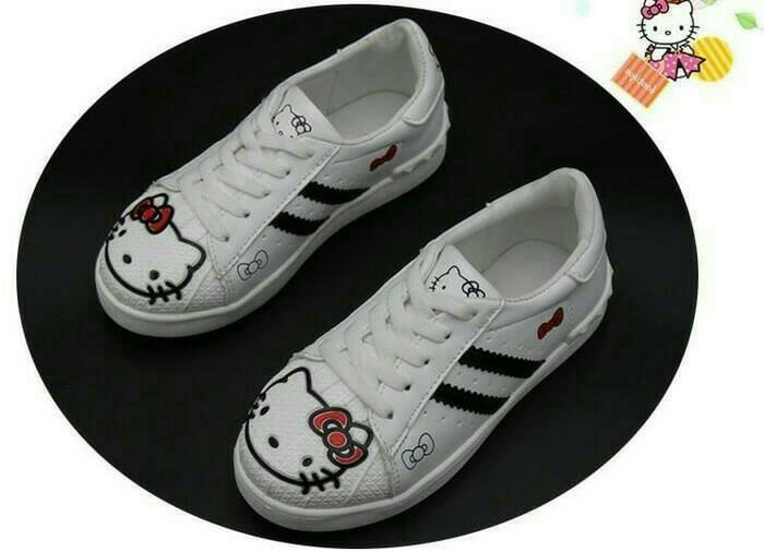 harga Sepatu walker anak perempuan import hello kitty hk putih tali size 26 Tokopedia.com