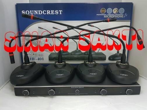 harga Murah mic wireless conference / podium soundcrest uhf 401 ( 4bh mic ) Tokopedia.com